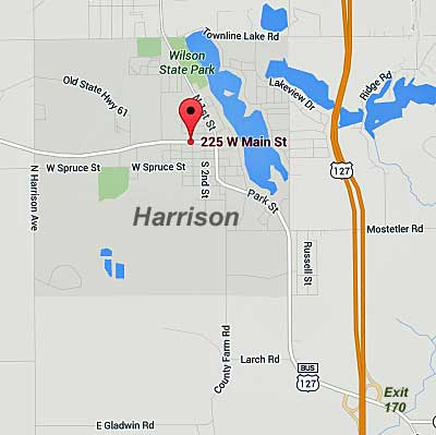 Map to CCDP Meetings in Harrison, MI